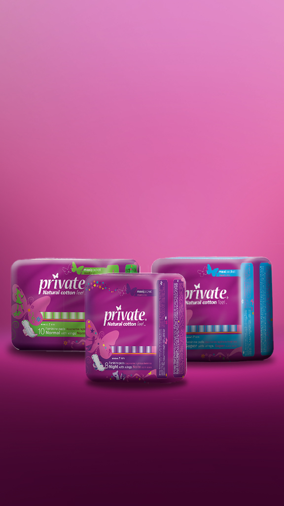 private-sanita-products-female-hygiene-purple-design