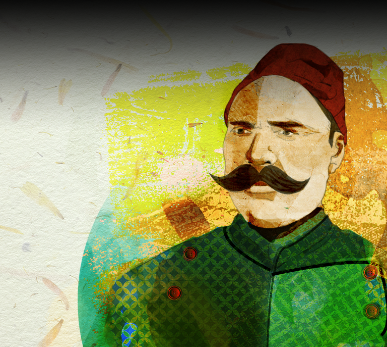 design-of-egyptian-man-wearing-fez-moustache