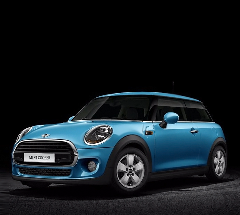 mini-cooper-sky-blue-design-black-background