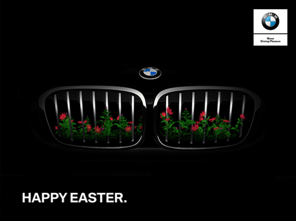 bmw-egypt-easter-grille-with-flowers
