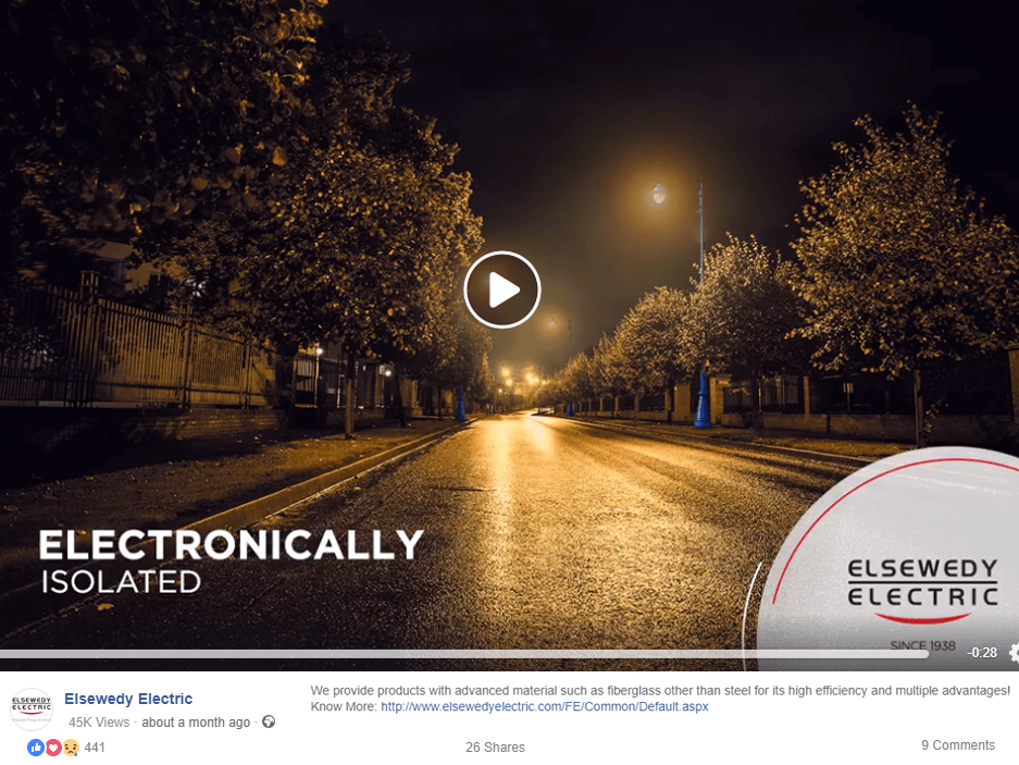 elsewedy-electric-facebook-page-laptop-screenshot