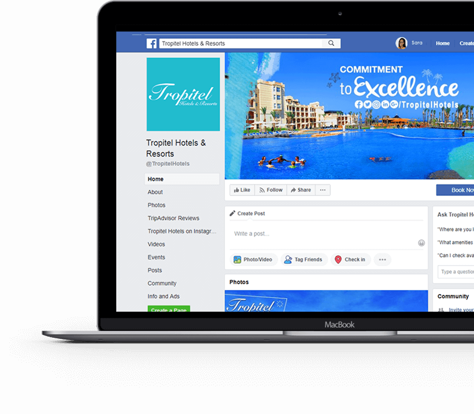 tropitel-hotels-resorts-facebook-page-screenshot
