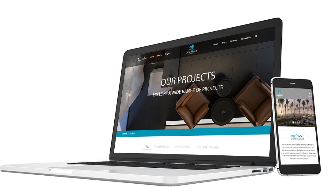 LaSirena-Group-website-on-laptop-mobile