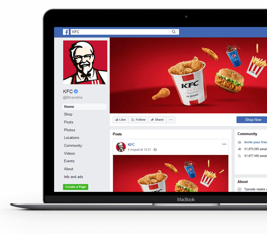 kfc-arabia-facebook-page-screenshot