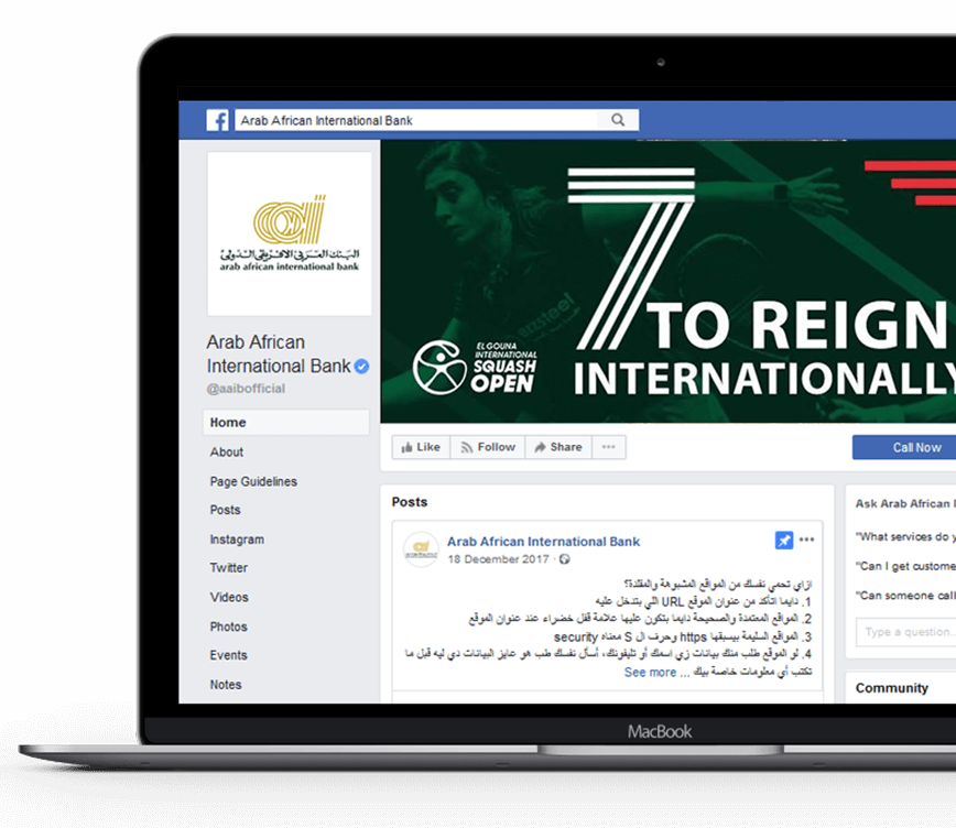 arab-african-international-bank-facebook-page-screenshot
