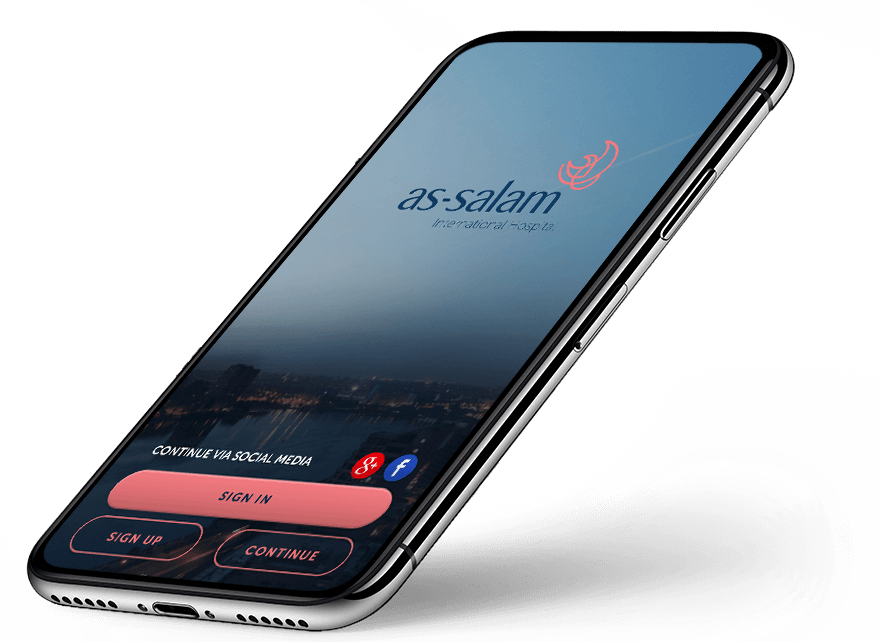 as-salam-hospital-mobile-app-screenshot-login-signup-screen